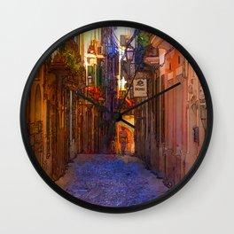 High noon in Palma de mallorca Wall Clock