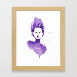Purple Water Faery Framed Art Print