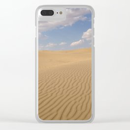 Desert day view Clear iPhone Case
