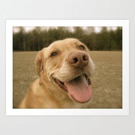Dog Gone Happy Art Print