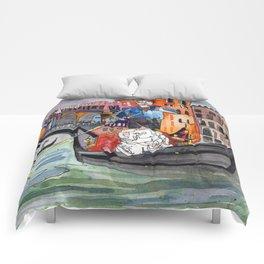 Lovers in Venice Comforters