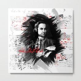 Johann Sebastian Bach Metal Print