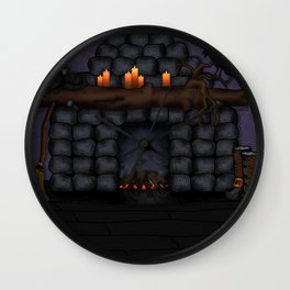 The Witches' Fireplace Wall Clock