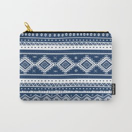 Tribal Aztec Lace Pattern (navy) Carry-All Pouch