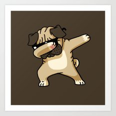 Dabbing Pug Art Print
