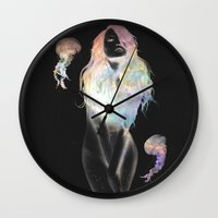 medusa Wall Clocks featuring Medusa by Daniel Taylor