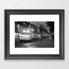 Police on Princes Street Framed Art Print