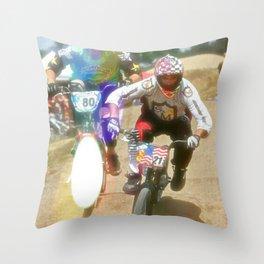 s&m bikes racer Throw Pillow