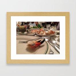 Stone Crab Claw Framed Art Print