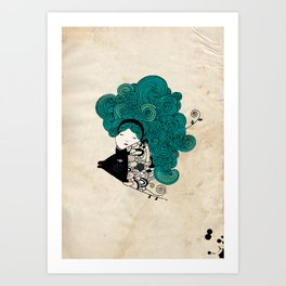 Pisces Girl Art Print