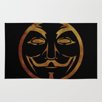 anonymous Area & Throw Rugs featuring Anonymous by Spooky Dooky