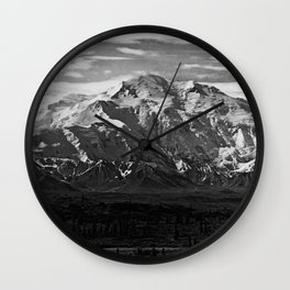 Retro USA  Alaska Beautiful Mt Mckinley 1970 Wall Clock