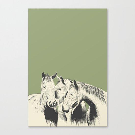 3 Horses Canvas Print