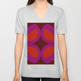 Arthur - Colorful Abstract Art Red Pink Unisex V-Neck