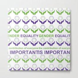 Gender Equality_03 by Victoria Deregus Metal Print