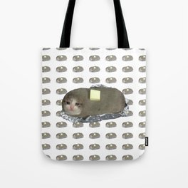 Crying Cat Baked Potato With Butter Tote Bag
