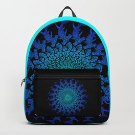 Ombre Tribal Hammerhead Mandala Backpack