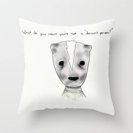 ms skunk Throw Pillow