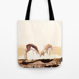 Gazelle Brawl Tote Bag