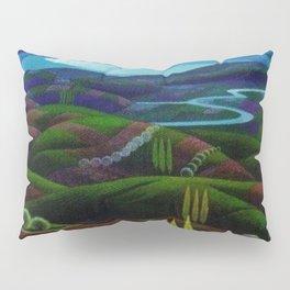 The Primeval Forest landscape painting by Gerardo Dottori Pillow Sham