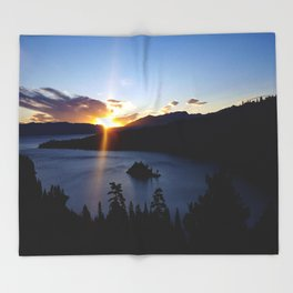 Sunrise at Emerald Bay Throw Blanket