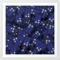 doctor who Art Prints featuring Tardis by 10813 Apparel