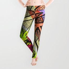 Rainbow Doodles Leggings