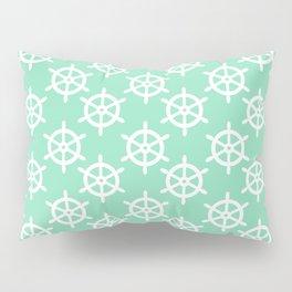 Ship Wheel (White & Mint Pattern) Pillow Sham