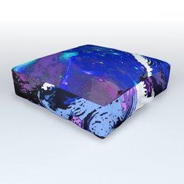 WOLF MOON AND SHOOTING STARS Outdoor Floor Cushion
