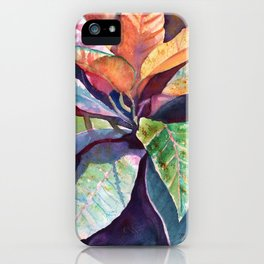 Colorful Tropical Leaves 3 iPhone Case