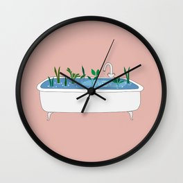 In the shower Wall Clock