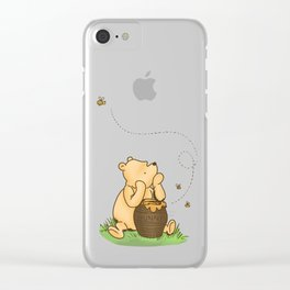 Classic Pooh with Honey - No background Clear iPhone Case