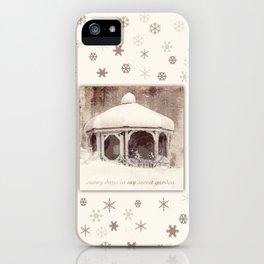 Snowflakes on my Gazebo iPhone Case