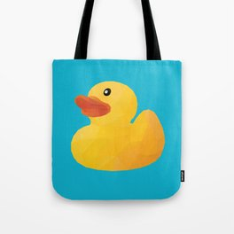 Rubber Duck polygon art Tote Bag