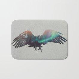 Eagle In The Aurora Borealis Bath Mat