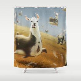 Llamaaaaaa Shower Curtain