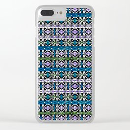 Ethnic striped pattern. Clear iPhone Case