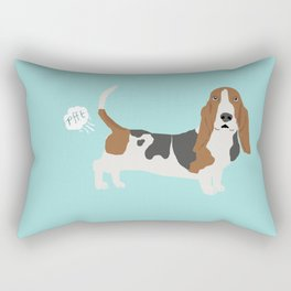 Basset Hound dog breed funny dog fart Rectangular Pillow