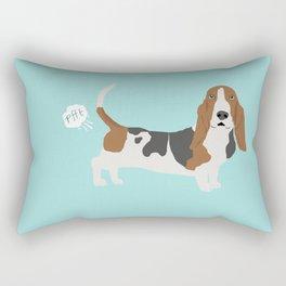 Basset Hound dog breed funny dog fart Rectangular Pillow