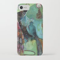 """flora bowley iPhone & iPod Cases featuring """"Light Trio"""" Original Painting by Flora Bowley by Flora Bowley"""