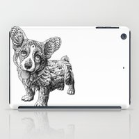 corgi iPad Cases featuring Corgi Puppy by BIOWORKZ