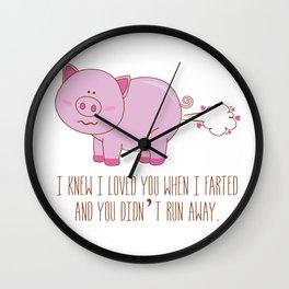 Love fart Wall Clock