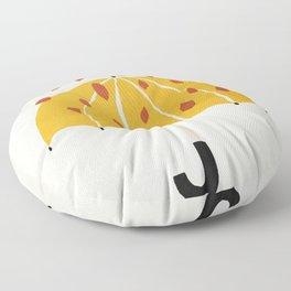 Umbrella, Autumn, Mid century modern kids wall art, Nursery room Floor Pillow