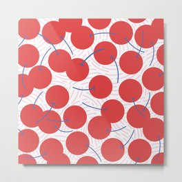 Red cherries Metal Print