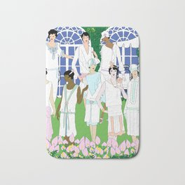 Gatsby Girl Garden Party Bath Mat