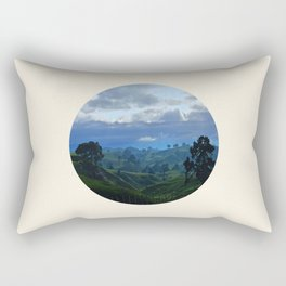 Rolling Hills Circle Photo Frame Rectangular Pillow