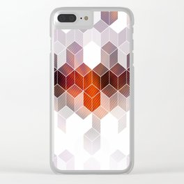 Purple Hues Clear iPhone Case