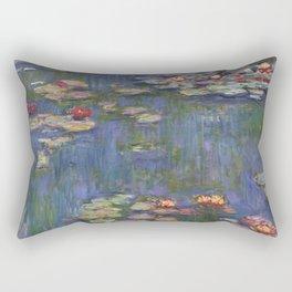 """Claude Monet """"Water lilies"""" (12) Rectangular Pillow"""