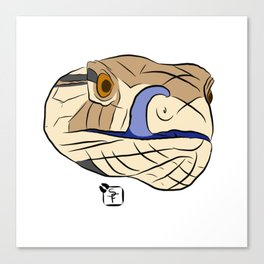 Blue Tongued Skink Canvas Print