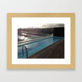 Rooftop Pool Framed Art Print